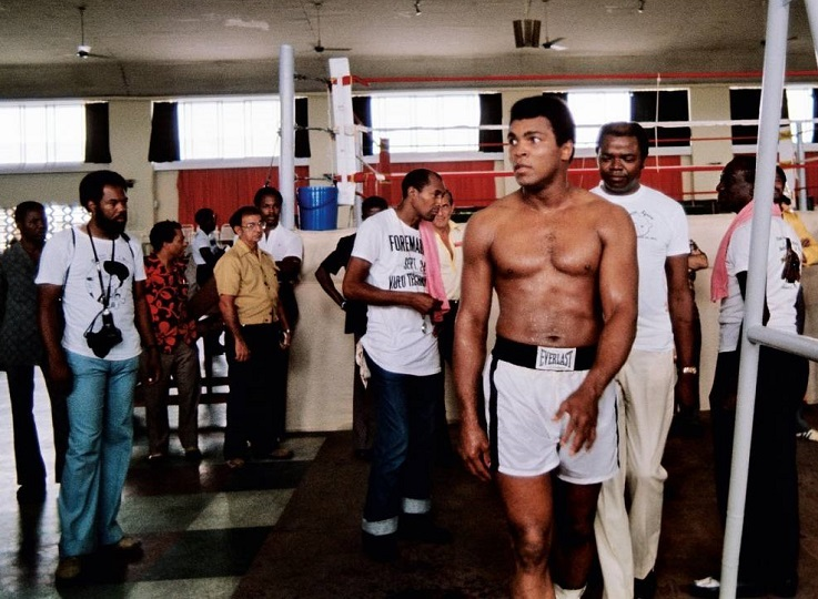 Ali training in N'Sele.