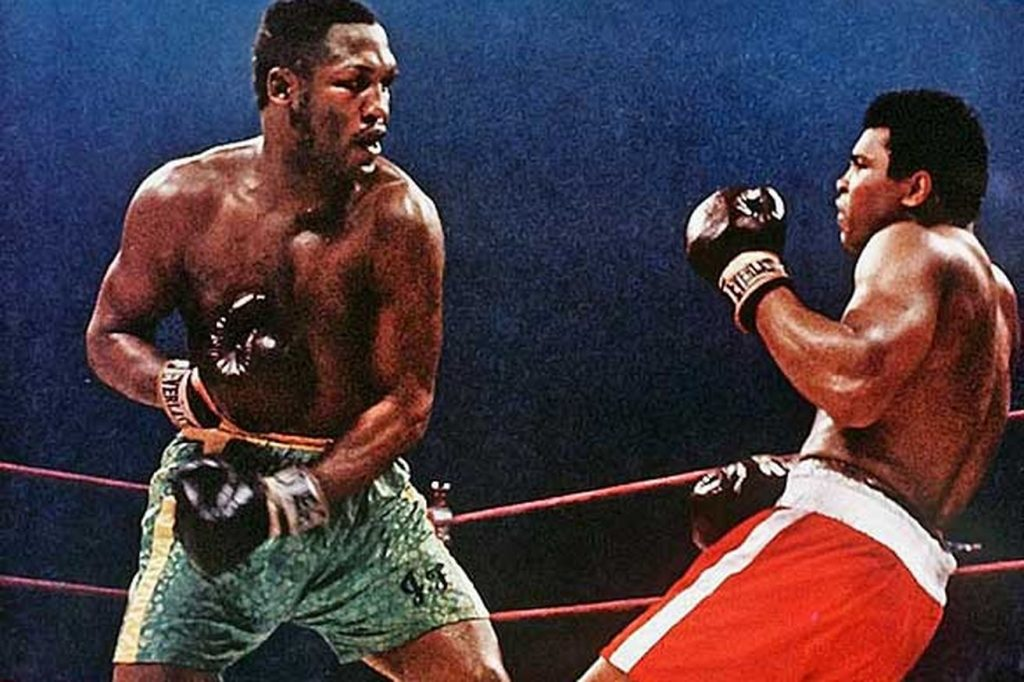 1971: Frazier defeats Ali in the biggest fight ever.