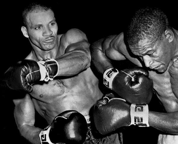 Johnson battles Eddie Cotton.
