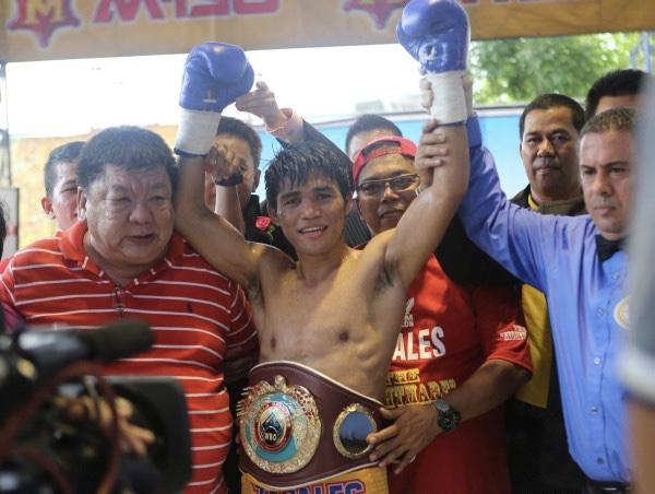 Marlon Tapales, the newly crowned WBO bantamweight champion of the world.