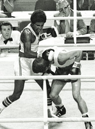 Randolph en route to winning his gold medal at the Olympics in 1976.