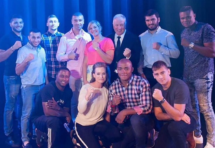 The GYM gang, including Yvon Michel, Lucian Bute and