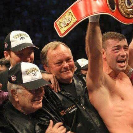 Miller with Lucian Bute.
