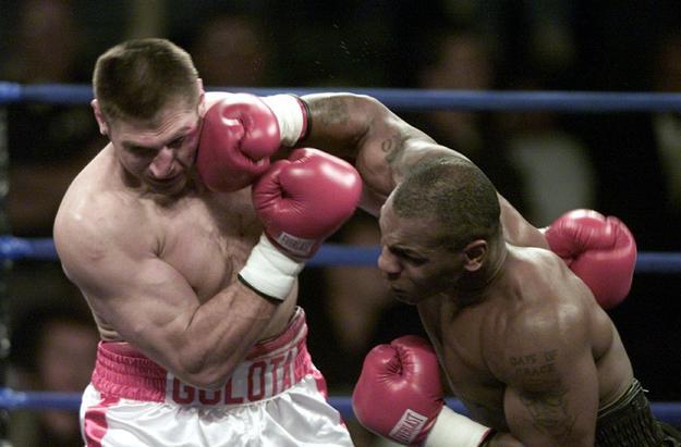 Golota taking shots from Tyson.
