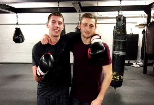 Dario and Bruno Bredicean at Grant Brothers gym.