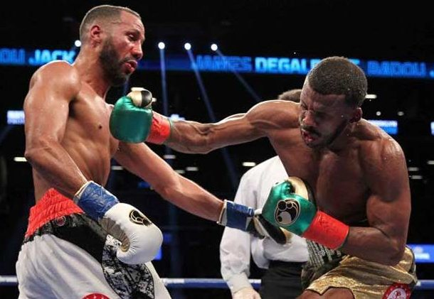 DeGale (left) showed true grit against Jack.