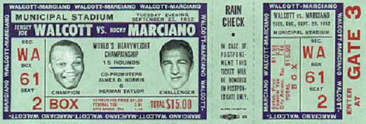 Marciano vs Walcott
