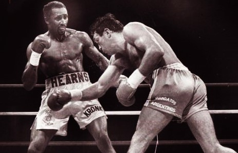 Hearns vs Roldan